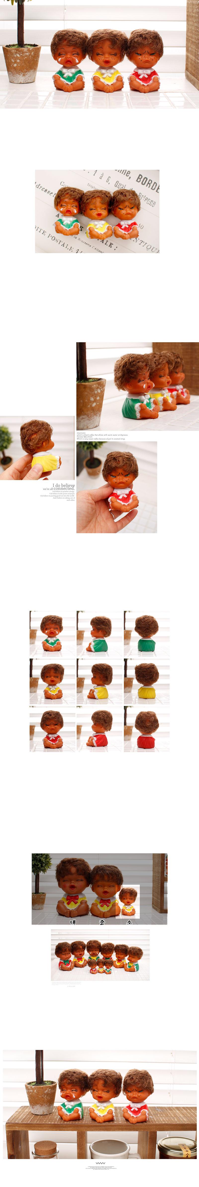 못난이 인형3P(곱슬머리)-소 - 체리하우스, 16,500원, 미니어처, 사람