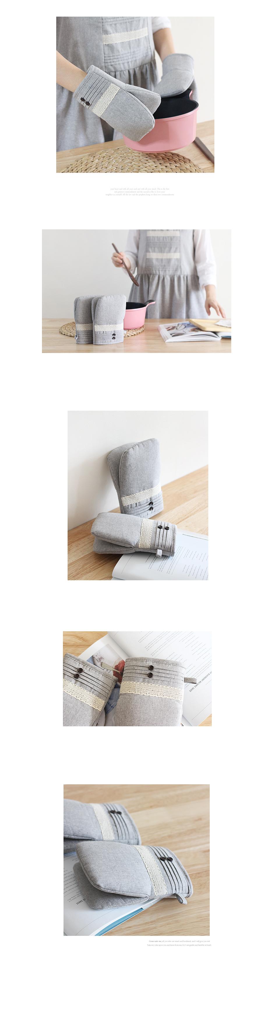 버튼핀턱 주방장갑(2개한세트) - 체리하우스, 14,000원, 주방장갑, 주방장갑