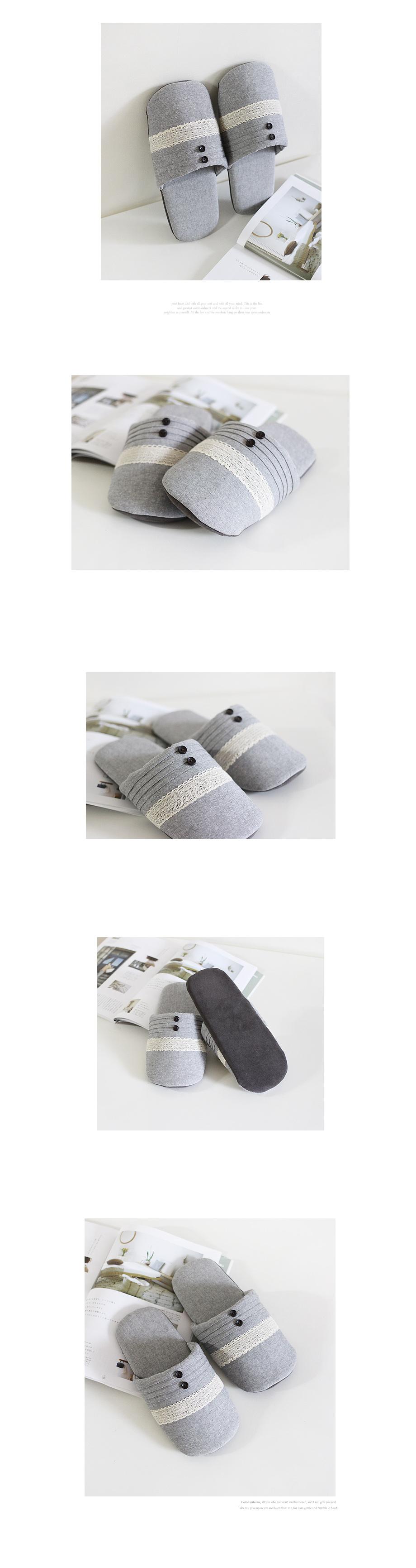 버튼핀턱 실내화 - 체리하우스, 13,000원, 실내화/슬리퍼, 패턴/무늬